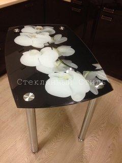 стеклянный кухонный стол с фотопечатью