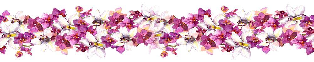 Кухонные фартуки цветы